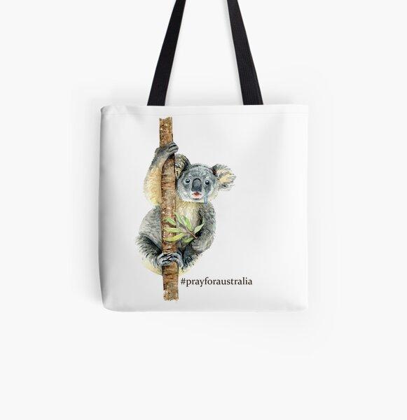 Pray for Australia Koala  All Over Print Tote Bag