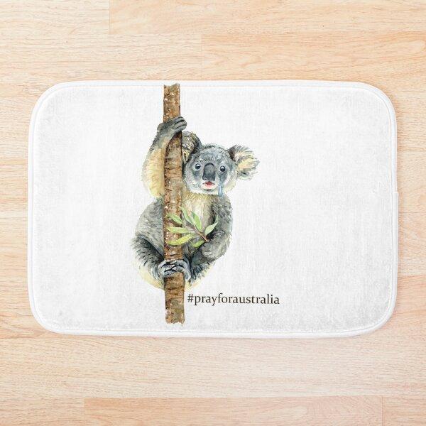 Pray for Australia Koala  Bath Mat