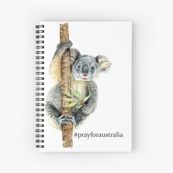 Pray for Australia Koala  Spiral Notebook