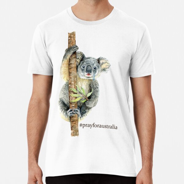 Pray for Australia Koala  Premium T-Shirt
