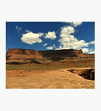 Blue Sky over the Butte Photographic Print
