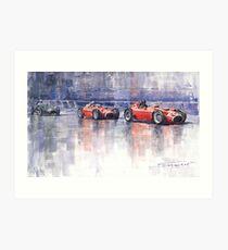 Ferrari D50 Monaco GP 1956 Art Print