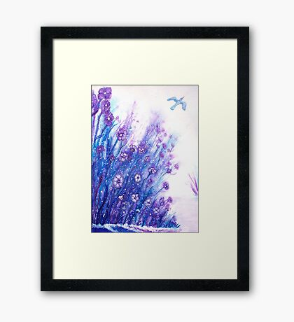 First Snow - Flowers Framed Print