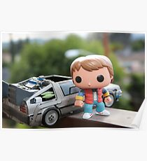 Marty Mcfly Delorean Poster