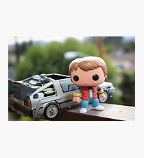 Marty Mcfly Delorean Photographic Print