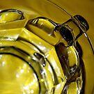 Clear Mug. Yellow Tablecloth  by DearMsWildOne