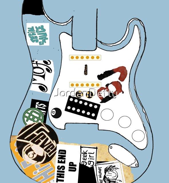 "Billie Joe Armstrong ""Blue"" Guitar - Any Colour  by JordanDefty"