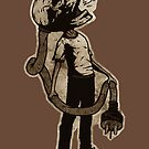 Frank The Electric Skull by matthewdunnart