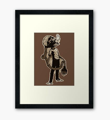 Frank The Electric Skull Framed Print