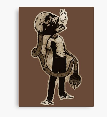 Frank The Electric Skull Canvas Print