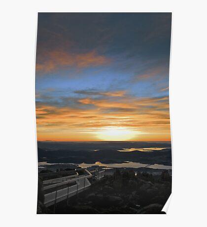 Volcanic Sunrise Poster