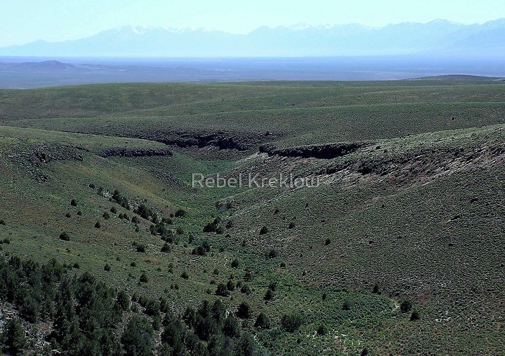 What The First People May Have Seen - The View From Hickison Summit & Petroglyph Site, Lander County, NV by Rebel Kreklow