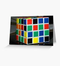 4 x 4 Rubics Cube Grußkarte