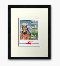 fox roll Framed Print