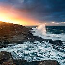 Break through-crowdy head-nsw mid north coast by Rodney Trenchard