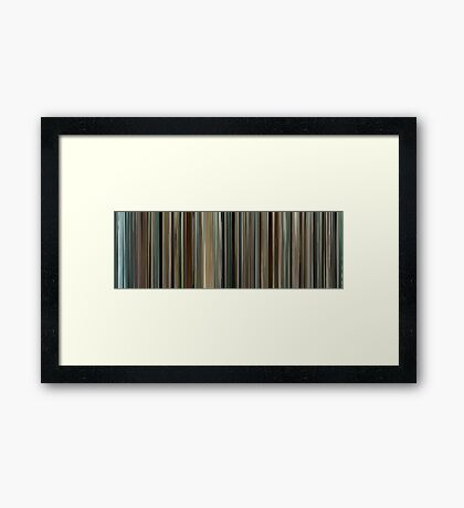 Moviebarcode: Into the Wild (2007) Framed Print