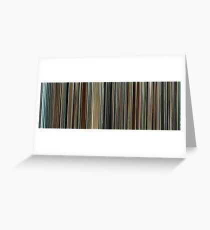 Moviebarcode: Into the Wild (2007) Greeting Card