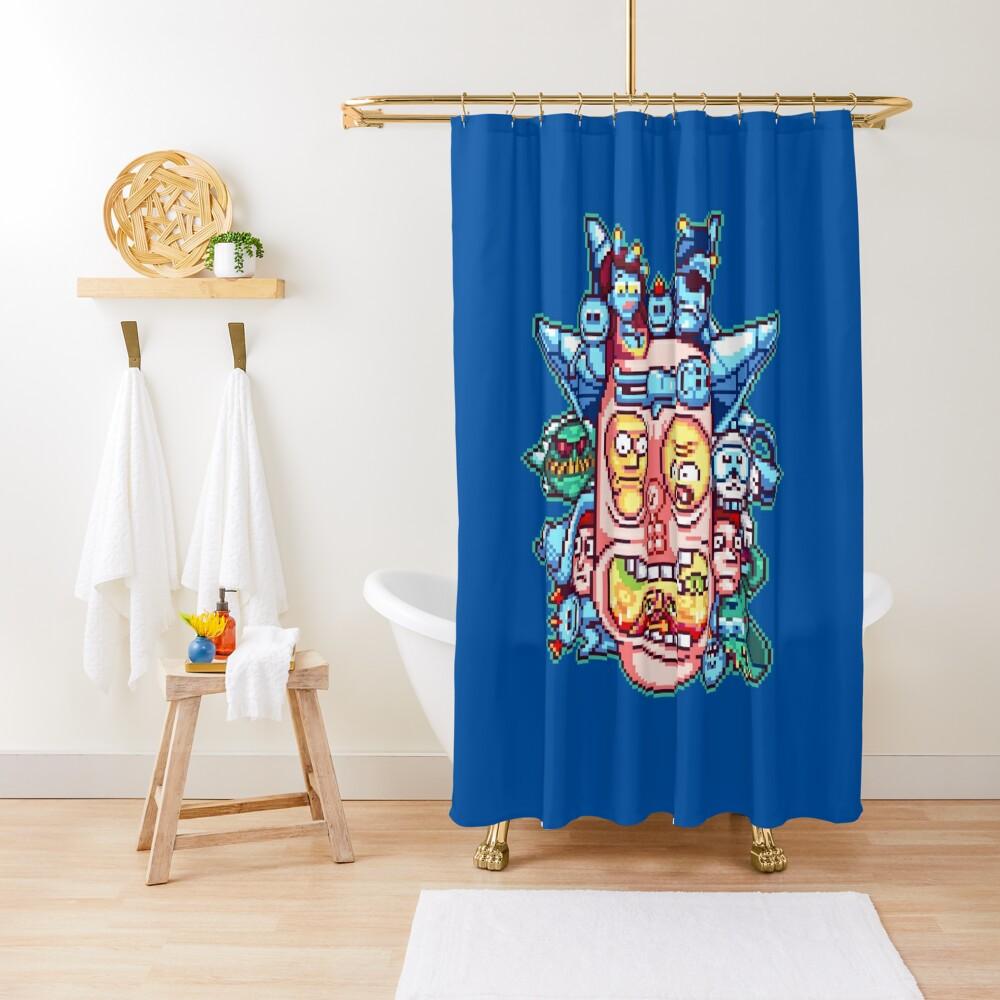 Pixel Rick Shower Curtain