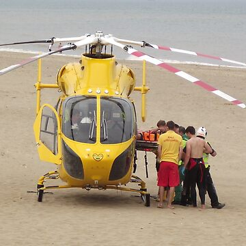 Air Ambulance - Skegness Beach by horace009