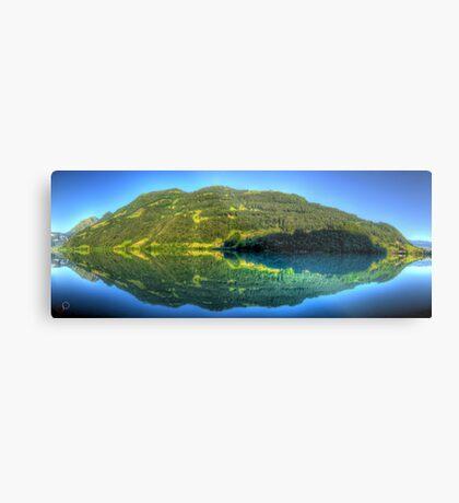 Lungerersee 24 shot HDR Panorama Metal Print