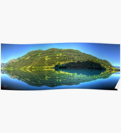 Lungerersee 24 shot HDR Panorama Poster