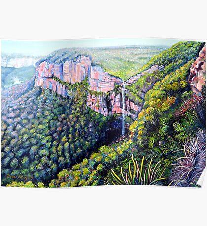 Bridal Veil Falls, Blue Mountains Poster