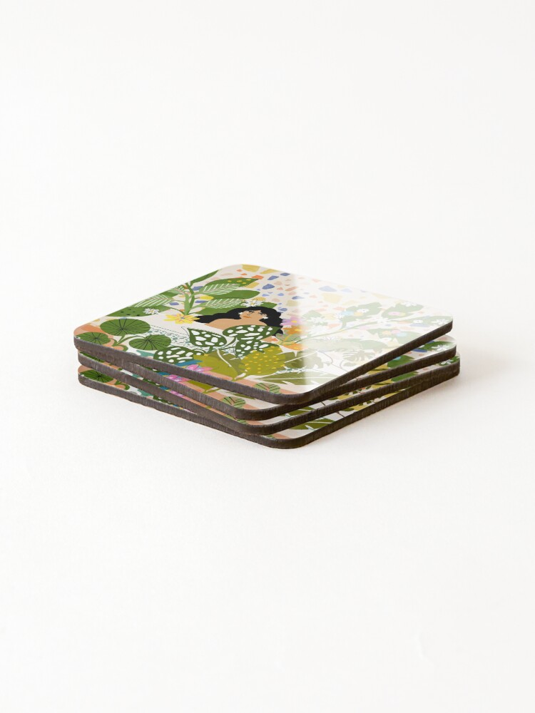Alternate view of Bathing with Plants Coasters (Set of 4)