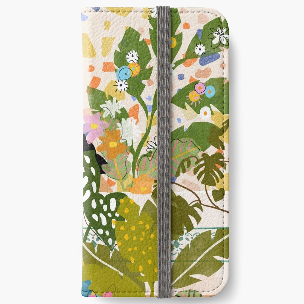 Bathing with Plants iPhone Wallet