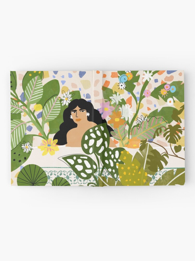 Alternate view of Bathing with Plants Hardcover Journal