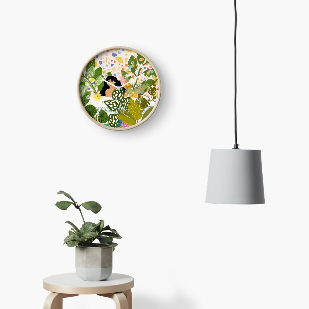 Bathing with Plants Clock