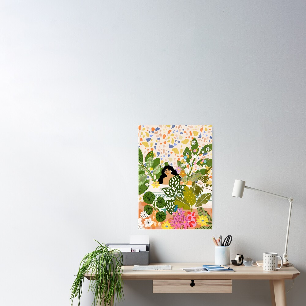 Bathing with Plants Poster