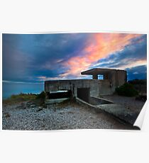 Ruins at Days end - Pt Lonsdale Victoria Poster