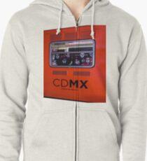La Catrina Viaja en Metro CDMX 2151 Zipped Hoodie
