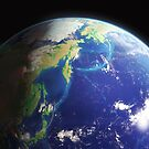 The Earth from the Space. Bering and Okhotsk Seas Area. by Ldarro