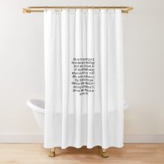 This Is For Rachel Voicemail Shower Curtain