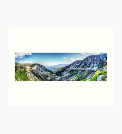 Gotthard Elbows Revisted - The HDR Panorama Art Print