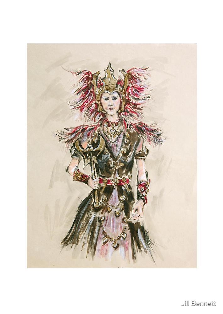 Warrior Princess or Princesa Guerrera by Jill Bennett