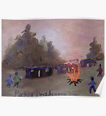 Misty Orange Farm squatter camp Poster