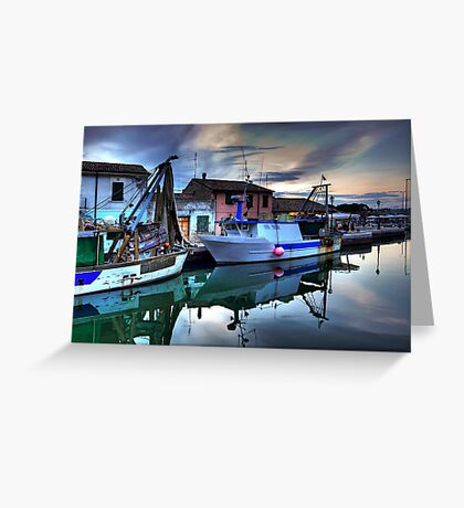 Cesenatico Fishing Harbour  Greeting Card
