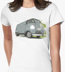 VW Split screen - Green Paint Splash Women's Fitted T-Shirt
