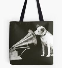 his masters voice Tote Bag