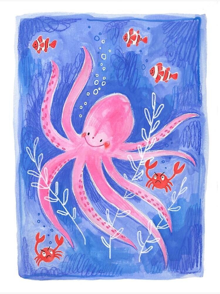 Happy Octopus by jillianailsa