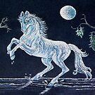 White Horse Under Moon by sharpie