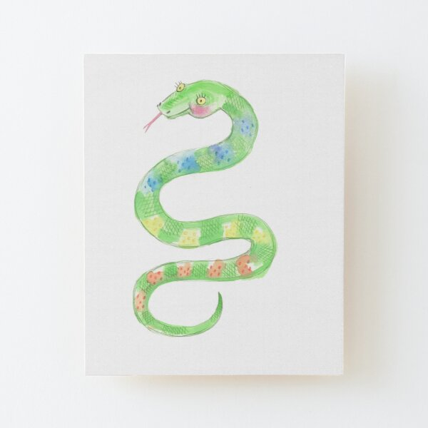 Pretty Snake Wood Mounted Print