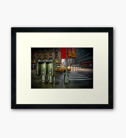 Rainy evening in Manhattan Framed Print