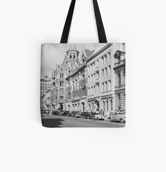 St George's Terrace, Perth, 1941, State Library of Western Australia All Over Print Tote Bag