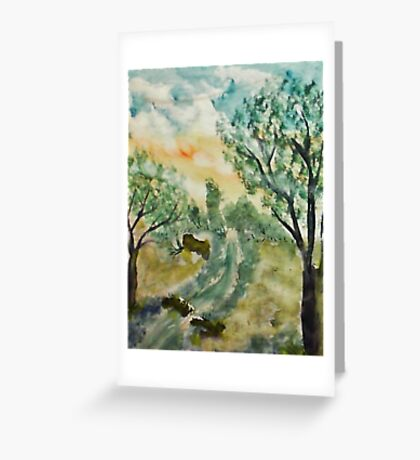 Down by the creek, watercolor Greeting Card