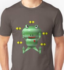 Cute frog and flies Unisex T-Shirt