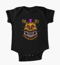 Five Nights at Freddys 4 - Nightmare Fredbear - Pixel art Kids Clothes