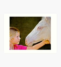 The Little Horse Whisperer Art Print